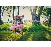 Gracie the rock n roll cowgirl :) Photographic Print