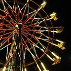 Ferris Wheel At Night by LadyEloise