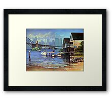 Lavender Bay Boathouse, Sydney Harbour Framed Print