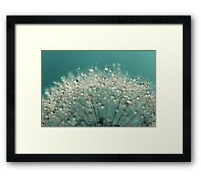 Cyan Sparkles Framed Print