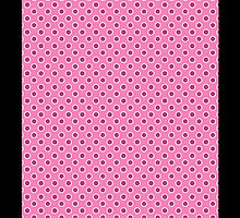 Dotty Pink iPhone Case by Moonlake