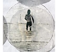 Lone Surfer - Cropped Photographic Print
