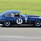 Jaguar E Type No 84 by Willie Jackson