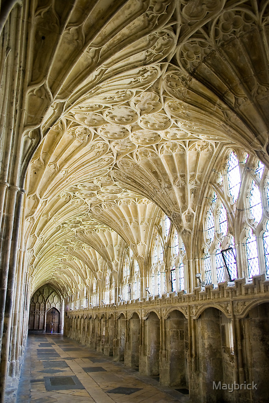 Gloucester Cathedral, Sculpted Cloisters. by Maybrick