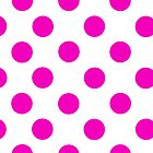 White and Pink Polka Dot iPhone Case by giraffoarts