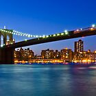 New York Brooklyn Bridge at Night by Daisy Yeung