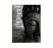 Buddha Words of Wisdom Art Print
