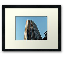 Tower In The Sky - Sun in the Windows  Framed Print