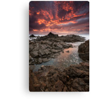 """Inferno"" ∞ Hastings Point, NSW - Australia Canvas Print"