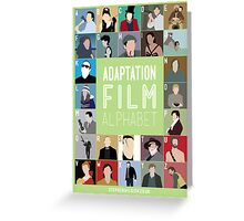 Adaptation Film Alphabet Greeting Card