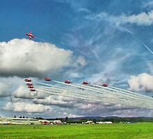 The Reds Break For Landing - Dunsfold 2008 by Colin  Williams Photography