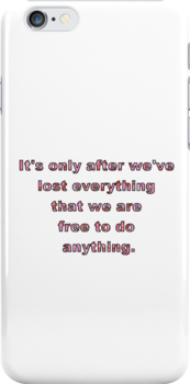 Fight Club Quote White with Pink Soap Letters by KarterRhys