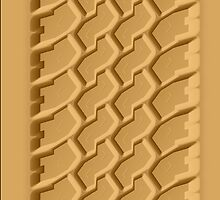 Beach Sand Car Tire Track iPhone 5 Case / iPhone 4 Case  by CroDesign