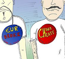 China vs Europe push buttons by Binary-Options