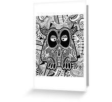 doodle owl Greeting Card