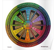 Mandala 43 drawing rainbow 1 Poster