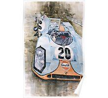Steve McQueens Porsche 917K Le Mans Poster