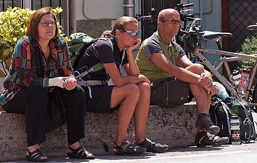Waiting for the Giro by Mike Church