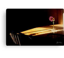Table Flower in Window Light Canvas Print