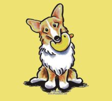 Corgi with Rubber Duck by offleashart