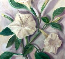 Angel Trumpet Datura (Vertical Plant Series) by Randy  Burns