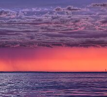 Distant Sunset Storm by Chris Mitchell
