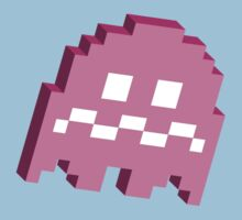 Pink Ghost - Pacman by techwiz