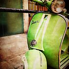 iPhoneography: Green Vespa by Aakheperure