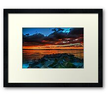 Red Sky at Night Framed Print
