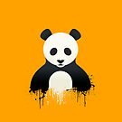 Panda Graffiti yellow by Mark Walker