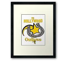 Vintage Hollywood Outlaws T-Shirt Framed Print