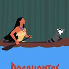Pocahontas Minimal Poster by Zoe Toseland