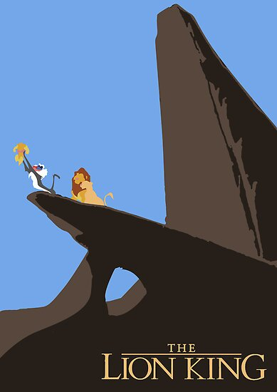 Lion King minimal poster by Zoe Toseland
