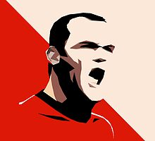 Manchester United Rooney Vector by Aaron Pacey
