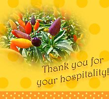 Thank You For Your Hospitality Greeting Card - Decorative Pepper Plant by MotherNature