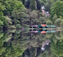 Boathouses by Linda  Morrison
