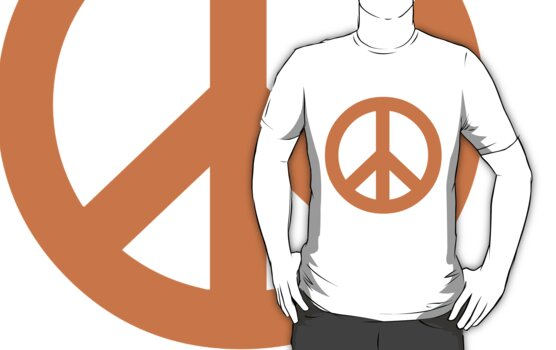 Peace - orange. by LewisJamesMuzzy