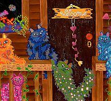 Crazy Cat Lady Calendar - Art by Lisa Frances Judd by Lisa Frances Judd~QuirkyHappyArt