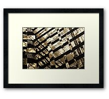 fragmented Framed Print