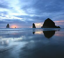 Cannon Beach Oregon Sunset by DreamerByDesign