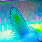 Fin III - Close up detail of a Parrot Fish by Karen Willshaw