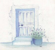 A pot of lavender by the door by HeidiHoHo