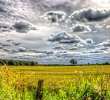 Clouds over farmland by Vicki Field