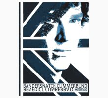 BANDERSNATCH CUMMERBUND in blue by redmoonrabbit