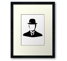 son of man appleless - black Framed Print