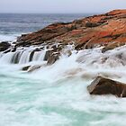 Atlantic Seas on Schoodic Point by Roupen  Baker