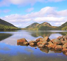 Jordan Pond, Acadia National Park by Roupen  Baker