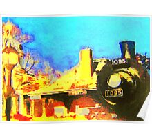 All Aboard...Steam Train Station Poster