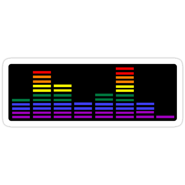 Rainbow Sound Bars (Black Backing) by emmarogers