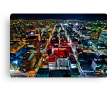 A Peaceful City - Sapporo , Japan ( with Billboard )  Canvas Print